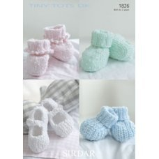 Babies Bootees & Shoes in Snuggly Tiny Tots Dk (1826)