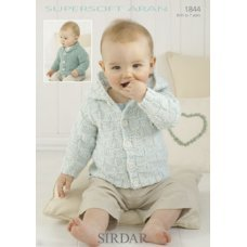 Babies Cardigans & Jackets in Supersoft Aran (1844)