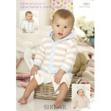 Babies Cardigans & Jackets in Snuggly Snowflake Dk (1851)