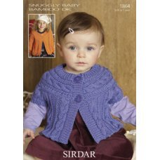 Babies Cardigans & Jackets in Snuggly Baby Bamboo Dk (1864)