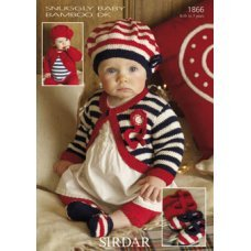 Babies Hats Bootees Mitts & Layettes in Snuggly Baby Bamboo Dk (1866)