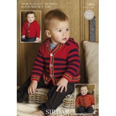 Babies Cardigans & Jackets in Snuggly Baby Bamboo Dk (1869)