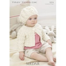 Babies Cardigans & Jackets in Snuggly Tiny Tots Dk (1874)