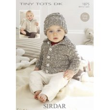 Babies Cardigans & Jackets in Snuggly Tiny Tots Dk (1875)