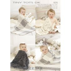 Babies Blankets in Snuggly Tiny Tots Dk (1876)