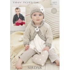 Babies Cardigans & Jackets in Snuggly Dk 50g (1877)