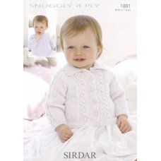 Babies Cardigans & Jackets in Snuggly 4 Ply 50g (1881)
