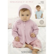 Babies Cardigans & Jackets in Snuggly 4 Ply 50g (1902)