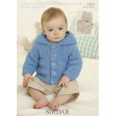 Babies Cardigans & Jackets in Snuggly Snowflake Chunky (1923)