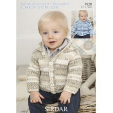 Babies Cardigans & Jackets in Snuggly Baby Crofter Dk (1928)