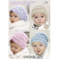 Babies Hats Bootees Mitts & Layettes in Snuggly Baby Crofter Dk (1930)