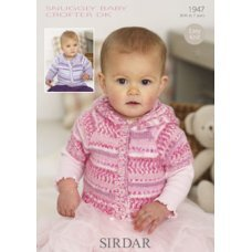 Babies Cardigans & Jackets in Snuggly Baby Crofter Dk (1947)