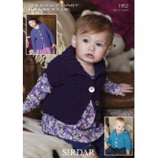 Babies Cardigans & Jackets in Snuggly Baby Bamboo Dk (1952)