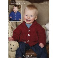 Babies and Childrens Cardigans in Snuggly Baby Bamboo Dk (1957)