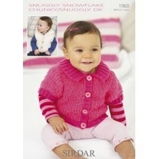 Babies Cardigans & Jackets in Snuggly Dk 50g (1960)