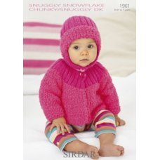 Babies Cardigans & Jackets in Snuggly Dk 50g (1961)