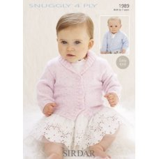 Babies Cardigans & Jackets in Snuggly 4 Ply 50g (1989)
