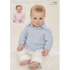 Babies Cardigans & Jackets in Snuggly 4 Ply 50g (1990)