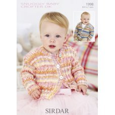 Babies Cardigans & Jackets in Snuggly Baby Crofter Dk (1998)
