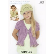 Children Cardigans in Snuggly Baby Bamboo Dk (2242)