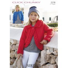 Children Cardigans in Click Chunky with Wool (2278)