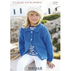Children Cardigans in Click Chunky with Wool (2279)