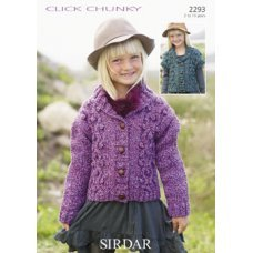 Children Cardigans in Click Chunky with Wool (2293)