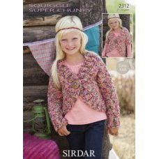 Children Cardigans in Squiggle Super Chunky (2312)
