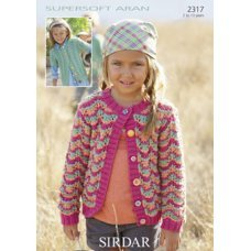 Children Cardigans in Supersoft Aran (2317)