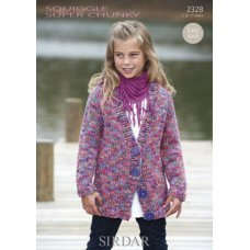 Children Cardigans in Squiggle Super Chunky (2328)