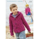 Children Cardigans in Supersoft Aran (2334)