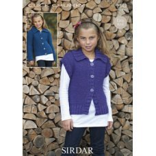 Children Gilets & Waistcoats in Click Chunky with Wool (2342)