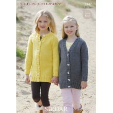 Children Cardigans in Click Chunky with Wool (2347)