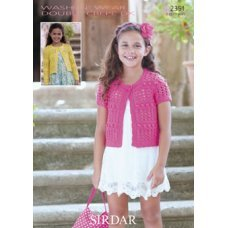 Children Cardigans in Wash 'n' Wear Double Crepe Dk (2351)