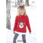 Childrens Reindeer sweater in Wash 'n' Wear Double Crepe DK (2373)