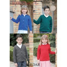 Childrens Classic Cardigans and Sweaters in Wash 'n' Wear Double Crepe DK (2398)