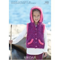 Childrens Gilet in Click Chunky with Wool (2400)