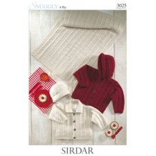Babies Jackets, Hat & Blanket in Snuggly 4 Ply 50g (3025)