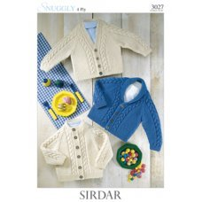 Babies Cardigans & Jackets in Snuggly 4 Ply 50g (3027)