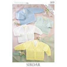 Babies Cardigans & Jackets in Snuggly 3 Ply 50g (3029)