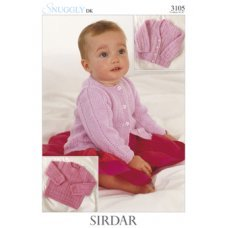 Babies Cardigans & Jackets in Snuggly Dk 50g (3105)