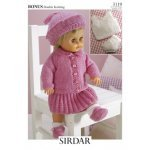 doll cardigan, skirt and beret in Baby Bonus Dk (3119)