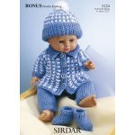doll coat and hat in Baby Bonus Dk (3124)