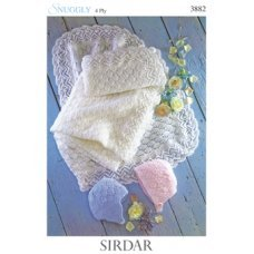 Babies Hats Bootees Mitts & Layettes in Snuggly 4 Ply 50g (3882)