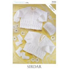 Babies Cardigans & Jackets in Snuggly 4 Ply 50g (3930)