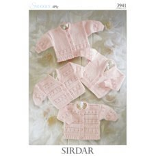 Babies Cardigans & Jackets in Snuggly 4 Ply 50g (3941)