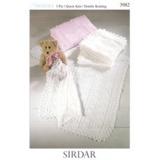Babies Shawls in Snuggly 3 Ply, Quick Knit and DK 50g (3982)