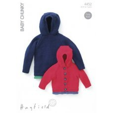 Babies and Childrens Sweater and Jacket in Hayfield Baby Chunky (4452)