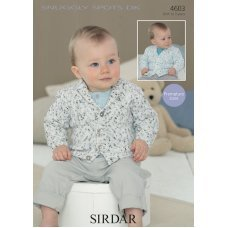 Babies & Childrens Cardigans in Snuggly Spots DK (4603)
