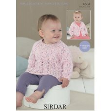 Babies & Childrens Sweater & Cardigan in Snuggly Spots DK (4604)